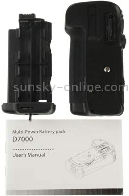 Camera Battery Grip for Nikon D7000 with Two Battery Holder Battery Grip Replacement