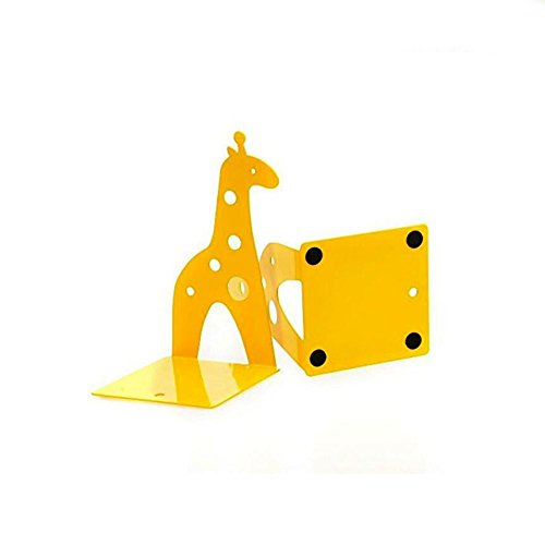 Cute Giraffe Nonskid Bookends Book Ends Organizer Bookend Art Gift,1 Pairs,Yellow by TOBSON (Image #5)