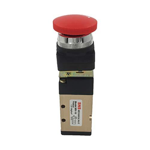 Jhe MV-10 Momentary Red Mushroom Button 1/4