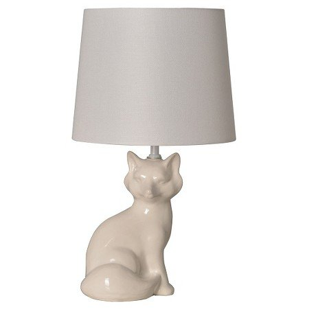 New Fox Table Lamp White (Includes CFL bulb)