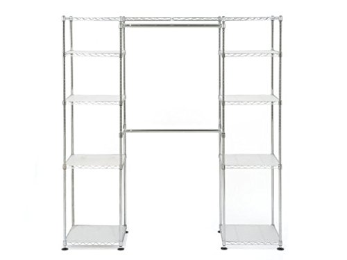Muscle Rack EZGR551472 Expandable Closet/Room Organizer, Chrome