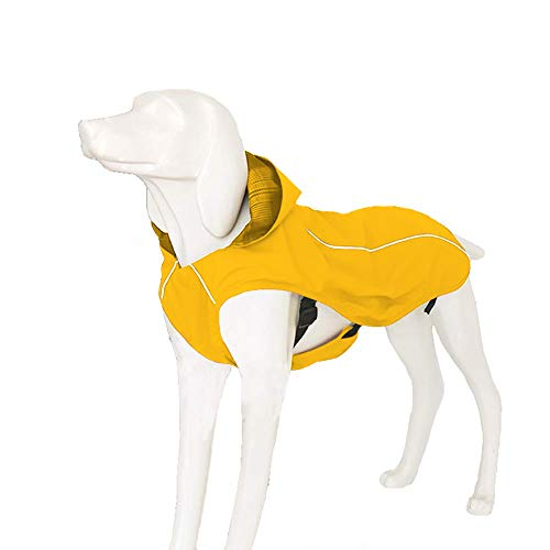(OSPet Dog Raincoat Waterproof Windproof Lightweight Dog Coat Jacket Reflective Rain Jacket with Hood Vest Harness for Small Medium Large Dogs)