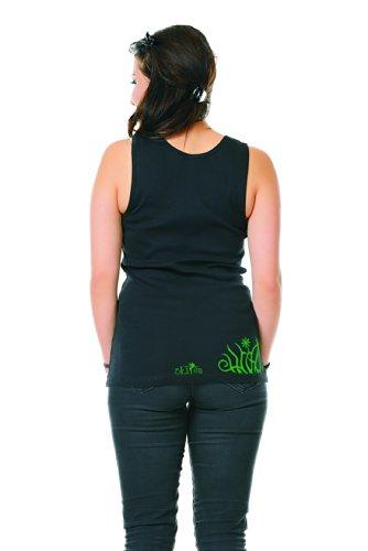 shirt D'été elfes Top De Tanktop Débardeur 3elfen Fleur Vert Femme t Coton Berlin Prairie Imprimé Court Noir SgRqwz0