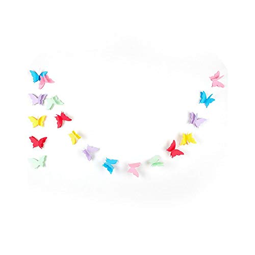 12Cm Butterfly Banner Decorative Paper Garland for Wedding, Baby Shower, Birthday Theme Decor Pack of -