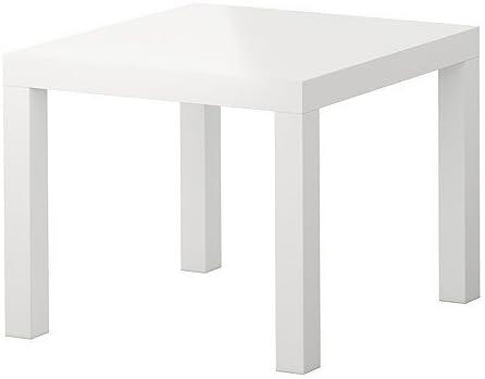 Ikea Lack Small Side Coffee Table High Gloss White Amazon Co Uk