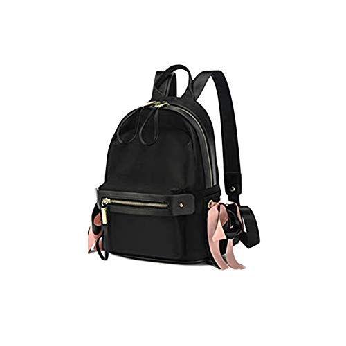 MEFennkwkw Oxford Textile Waterproof Anti-Theft Ms Backpack,City Leisure Campus School Bag Daily Youth Rucksack Fits 12 inch Laptop Bookbag-Black G 23x15x33cm(9x6x13inch) ()