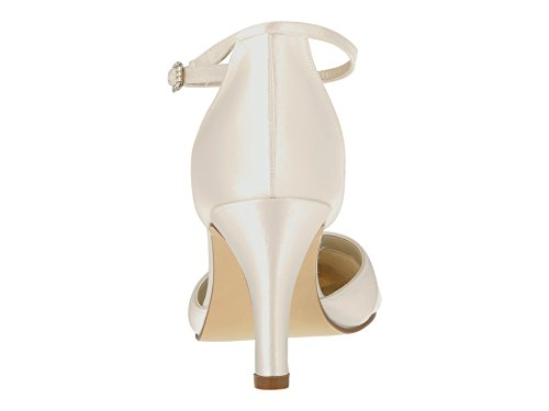Coloured Elsa Ivory Cheville Shoes Bride Femme UxwqfTSx