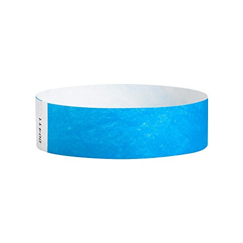 WristCo Neon Blue Tyvek Wristbands product image