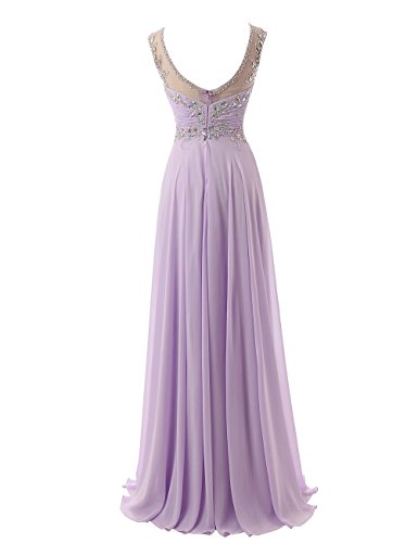 Beyonddress Lang Ausschnitt Cocktail Abendkleid Minze Ballkleid Damen V Partykleid Chiffon Empire rFtFHqw