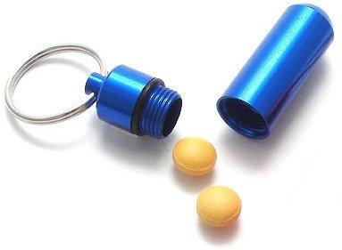 Economy Key Ring Pill Blue