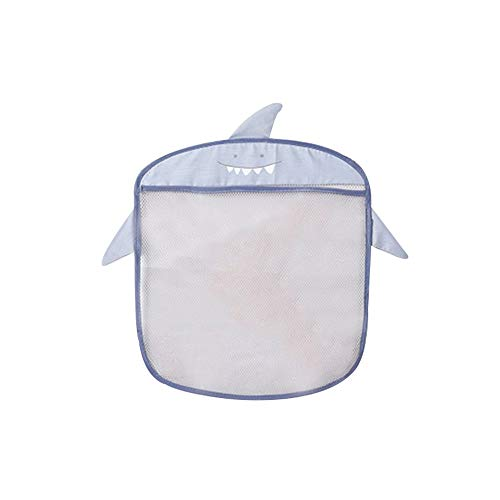 (TANGON Kids Bath Toys Organizer & Toy Holder | Mesh Shower Caddy Organizer Set with 4 Anti-Slip Suction Cups | Bathroom Shower Organizer for Toys, Shampoo & Soap (Gray))