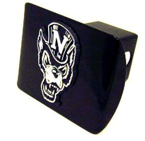 AMG Auto Emblems University of Nevada - Reno Black Metal Hitch Cover (Mascot with hat Logo)