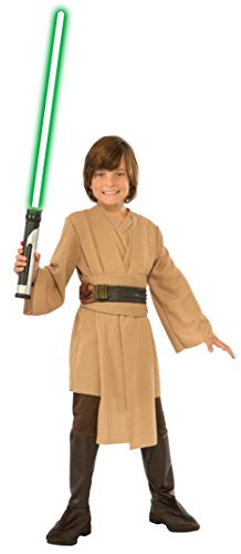 Jedi Costume Boots (Star Wars Jedi Deluxe Child Costume,)