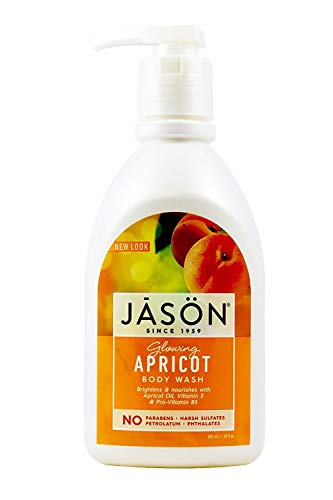 Jason Natural Products Apricot Satin Shower Body Wash, 30 Ounce - 3 per case. (
