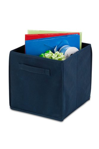 Honey-Can-Do International 4 Pack Non-Woven Foldable Cube- Navy (Honey Can Do Storage Cubes compare prices)