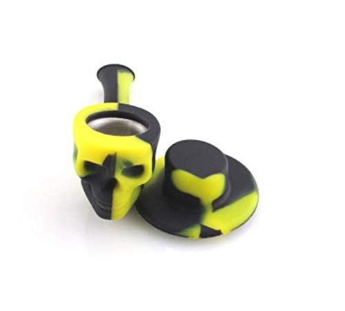 The idea of Silicone Skull with Cap (Yellow-Black)