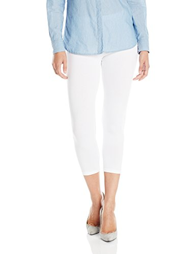 No Nonsense Women's Cotton Capri Legging, White, Small