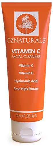 (OZNaturals Vitamin C Face Wash: Natural Facial Cleanser for Oily, Dry, and Sensitive Skin - Paraben Free Face Cleaner for Men and Women - Daily Exfoliating Facial Cleansers for Aging Skin - 4 Fl Oz)