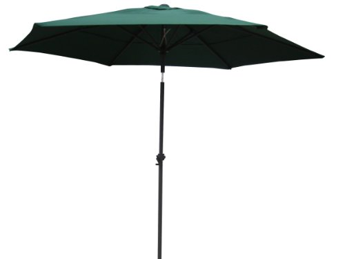 International Caravan YF-1104-2.5M/FG-IC Furniture Piece Outdoor 8 Foot Aluminum Umbrella For Sale