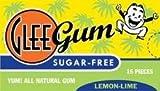 Glee Gum B01529 Glee Gum Lemon Lime44; Sugar Free -12x15 Pc