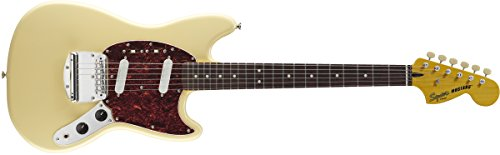 Squier by Fender Vintage Modified Mustang Beginner Short Scale Electric Guitar - Vintage White