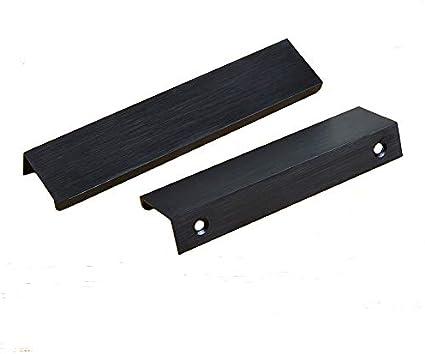 poignee de meuble kfz en alliage d aluminium noir mat brosse pour armoire tiroir porte avec boutons dissimules djh8850 noir
