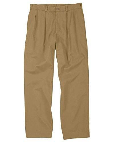 The Fine Swine Men's Bill's Khakis Original Twill M2 Pleated Pants 42 British khaki by The Fine Swine (Image #2)
