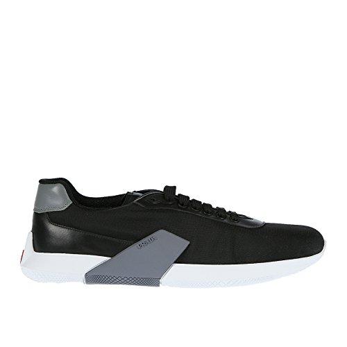 Prada Sneaker Nera con Suola in Contrasto - 43