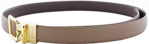 Cole Haan Women's Reversible Shrunken Leather Belt - Maple Sugar-Chestnut