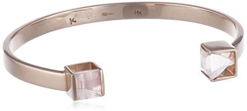 Kattri femme  18 carat (750)  Or rose|#Gold Carré   Rose Quarz FINENECKLACEBRACELETANKLET