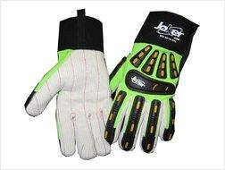 Joker™ XOS: Old School Cotton Palm Impact Gloves, Size: 3XL