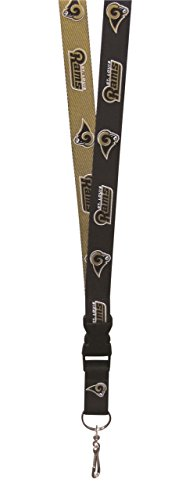 Louis Rams Nfl Keychain (NFL St. Louis Rams Two Tone Lanyard, Navy/Gold, One Size)