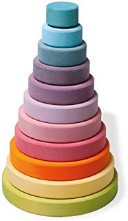 Toy Pastel - Grimm's Large Conical Stacking Tower - Pastel