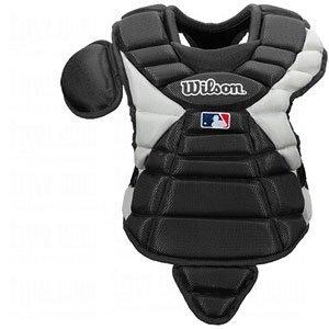 Wilson Pro Stock Hinge FX 2.0 Baseball Catcher's Chest Protector (Black, 14-Inch)