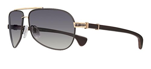 805350de571 Chrome Hearts - Grand Beast - Sunglasses (Matte Black Gold Plated ...