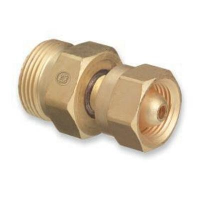 "Western Enterprises 314 Brass Cylinder Adaptors, From CGA-200 ""MC"" Acetylene to CGA-520 ""B"" Tank"