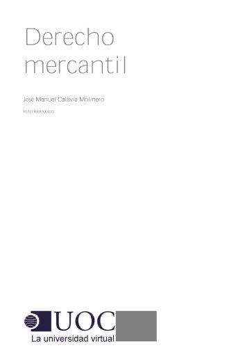 Derecho mercantil (Spanish Edition)