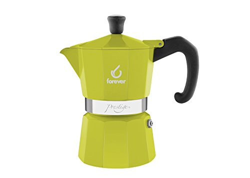 KAUFGUT 120244 Miss Moka Presti Grame La Verde Aluminium 6 Cups Coffe Maker, Multi