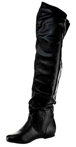 Slouchy Boots the Knee Pu Over Black Nature VICKIE Breeze HI Women's 0wxq8p