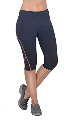 Womens Active Stretch Seam Detailed Mid Rise Bermuda Shorts Workout Clothes