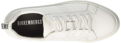 BIKKEMBERGS Herren Gymnasium 958 Low-Top Bianco (White)