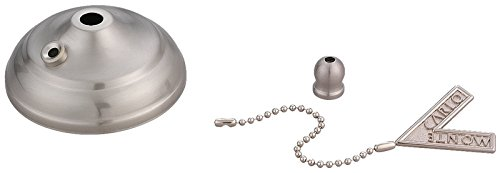 Monte Carlo MC83BS Pull Chain Type Bowl Cap Kit, Brushed Steel