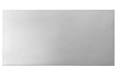 totalElement 28 x 14 Inch Magnetic Board, Polished Steel (Silver)