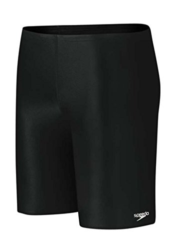 Speedo Learn-to-Swim Solid Jammer, black, 12 by Speedo