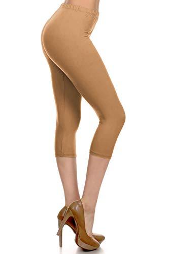 CA3X5X128-MOCHA Capri Solid Leggings, 3X5X