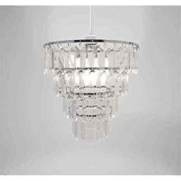 Chandelier Chic Ceiling Light Pendant Shade Crystal Droplet Fitting