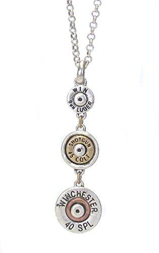 - CARTiacs Bullet Link Drop Necklace (Silver)
