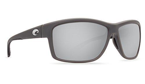 (Costa Del Mar Mag Bay Sunglasses, Matte Gray, Silver Mirror 580G Lens)