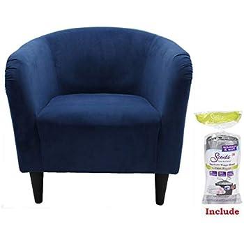 Amazon Com Mainstays Microfiber Tub Accent Chair 27 5 Quot X