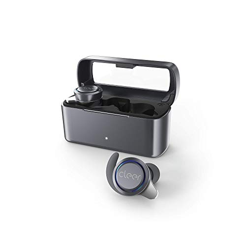 Cleer Ally Wireless Earbuds, Extended Battery Life Up to 10 Hours, Bluetooth Headphones (Gray)